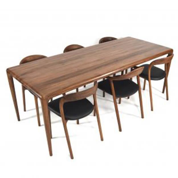 Bàn Latus - Ghế Neva | Mẫu bàn ghế ăn gỗi sồi