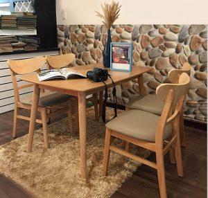 Bộ bàn ghế ăn mango - Bộ bàn ghế ăn sang trọng tiện lợi cho mọi gia đình