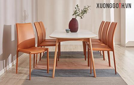 Bộ bàn ghế Linda màu cam đặc sắc cho ngôi nhà