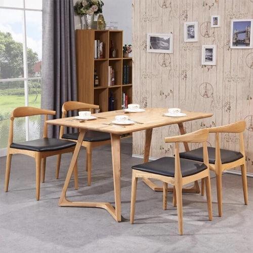 bộ bàn ghế Elbow gồm 1 bàn Twist+4 ghế