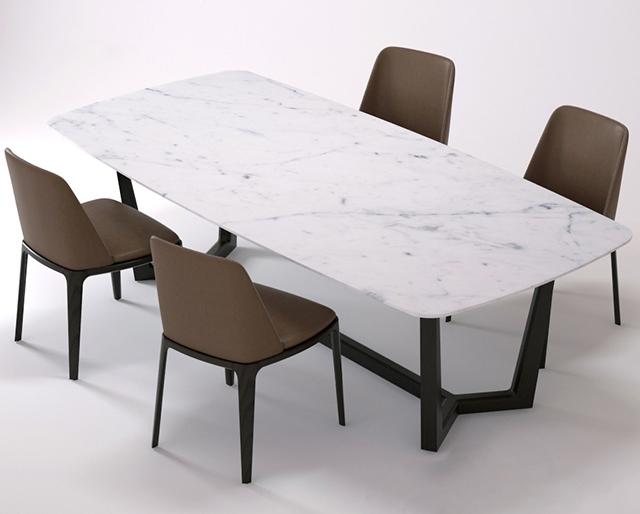 Bộ bàn ăn Concorde hình Oval