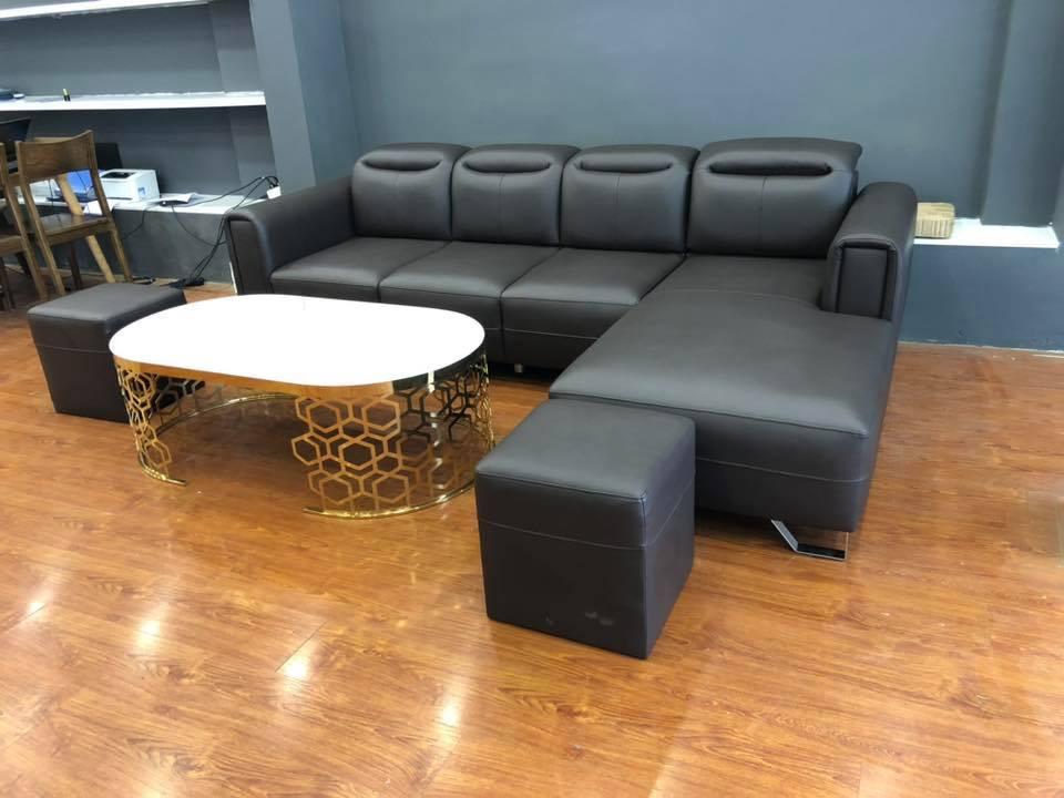 Bộ Sofa da hiện đại, sang trọng