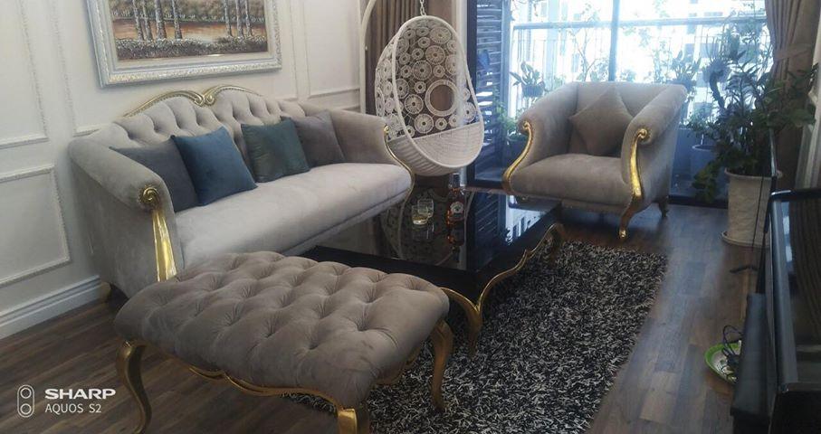 Sofa CG phong cách tân cổ điển sang trọng