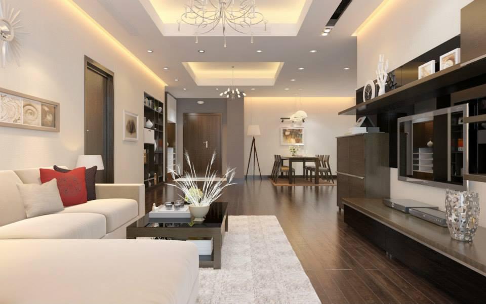 Một mẫu thiết kế nội thất căn hộ chung theo phong cách hiện đại