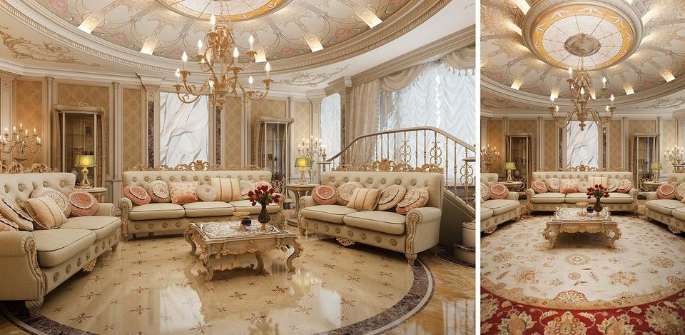 Một mẫu thiết kế nội thất cho căn hộ chung cư theo phong cách cổ điển.
