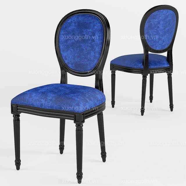 Chiếc ghế Louis tân cổ điển lấy cảm hứng từ bộ bàn ghế Louis thời Hoàng gia Pháp