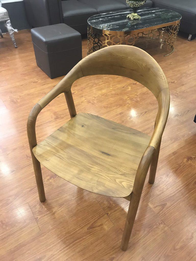 Ghế Neva mặt gỗ - dáng ghế gỗ tự nhiên đẹp tại Xưởng Nội Thất TH