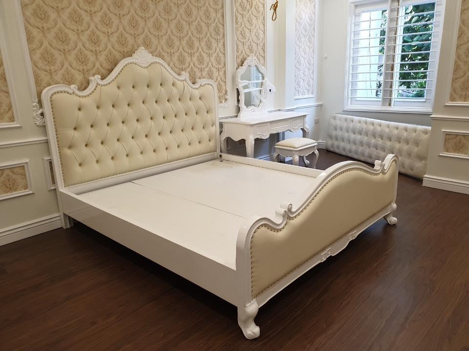 Giường ngủ đẹp phong cách tân cổ điển