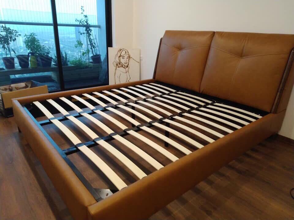 Giường ngủ bọc da phong cách hiện đại