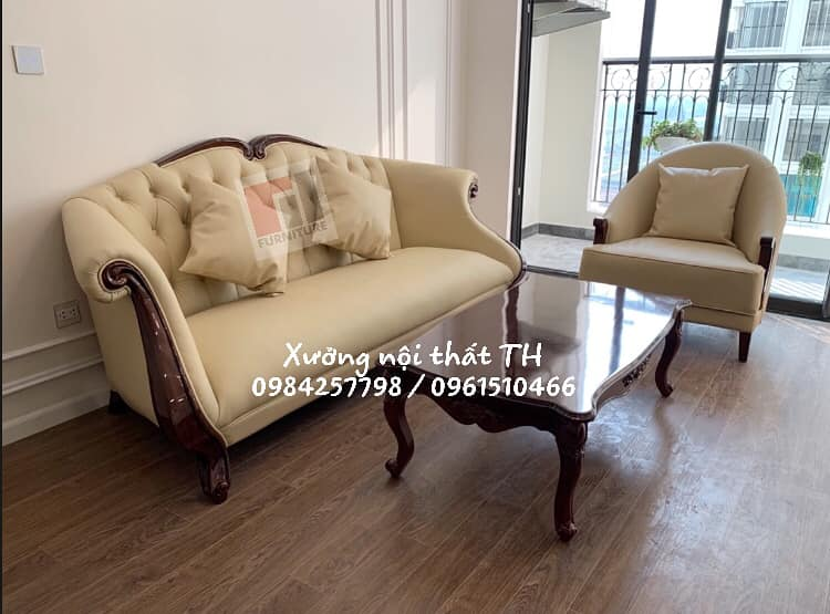 Sofa nửa da