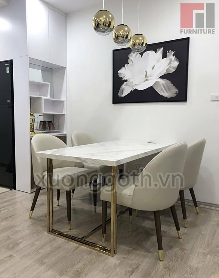 Bộ bàn ghế ăn H1 luôn là điển nhấn trong không gian nội thất phòng bếp nói riêng