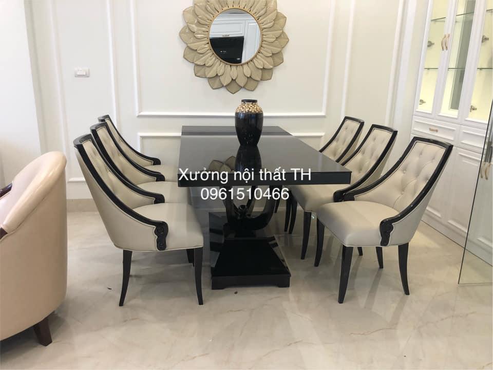 Bộ bàn ăn 6 ghế H4 khi được lắp đặt vào không gian thật sự sang trong