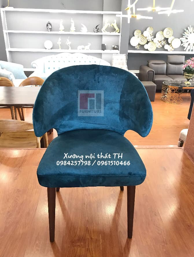 Mẫu ghế H3 bọc nỉ mềm mại và thanh lịch
