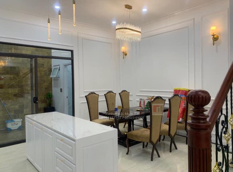 Bộ bàn ghế ăn CG vào không gian nhà toát lên vẻ đẹp sang trọng, kiêu xa
