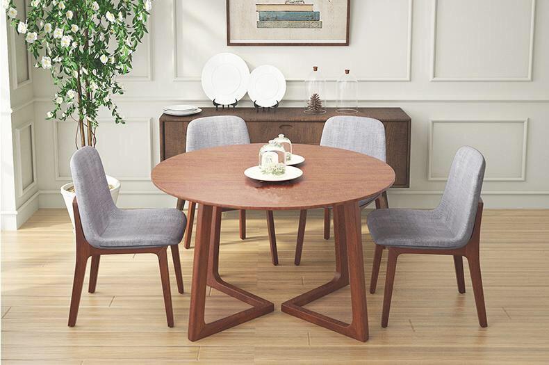 Bộ bàn ăn tròn Twist cho 6 người giúp không gian phòng ăn trở nên ấm cúng hơn