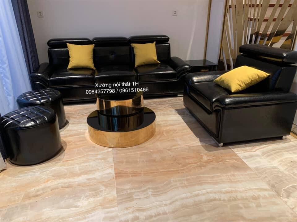 Bộ sofa hiện đại bọc giả da cao cấp - Microfiber bền, chất lượng