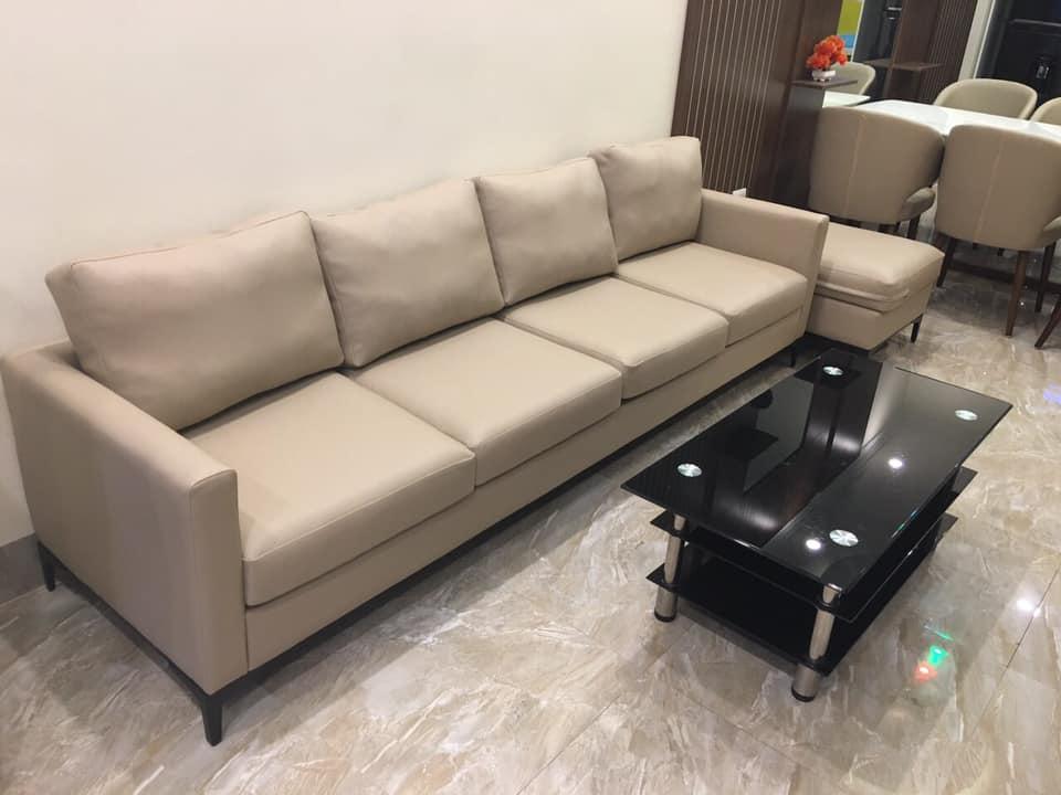 Bộ sofa văng hiện đại TH05 gọn gàng, tiết kiệm diện tích cho nhà có diện tích nhỏ