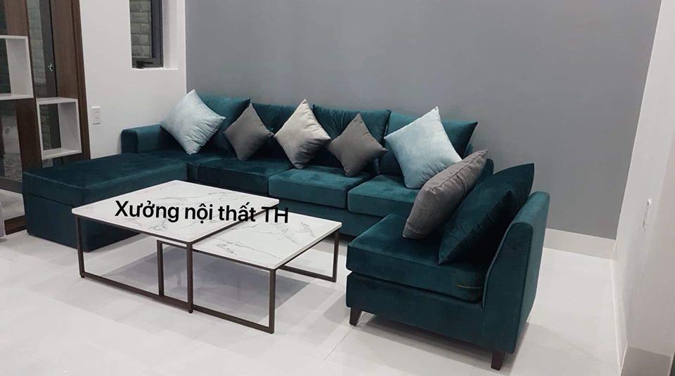 Bộ Sofa bọc nỉ mềm mại, uyển chuyển