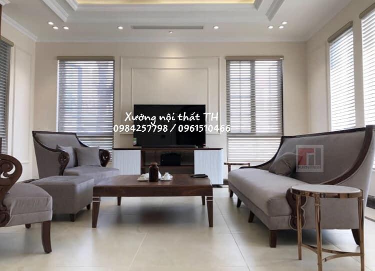 Bộ sofa tân cổ điển sang trọng dành cho căn hộ cao cấp, biệt thự xa hoa