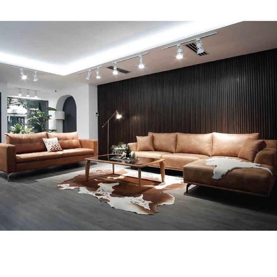 Bộ sofa góc kết hợp sofa văng mới mẻ, hiện đại và phá cách