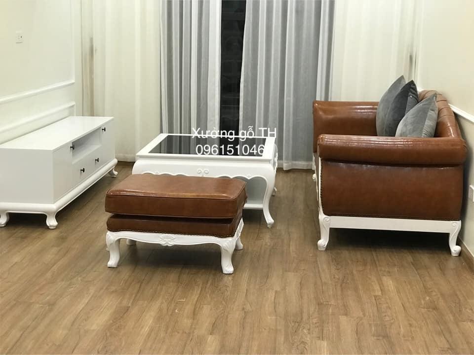 Mẫu sofa tân cổ điển đẹp phù hợp với không gian sang của những căn chung cư có diện tích nhỏ