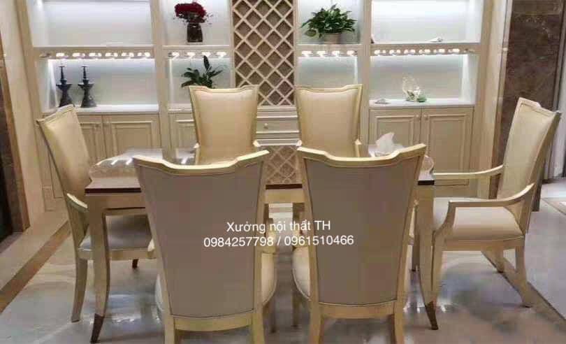 Bộ bàn ăn 6 người ngồi sang trọng và cuốn hút