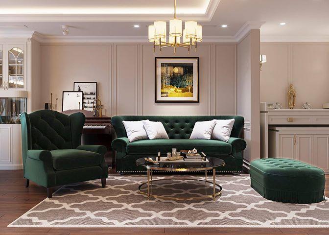 Bộ sofa tân cổ điển độc đáo và sang trọng mang đến không gian ấn tượng