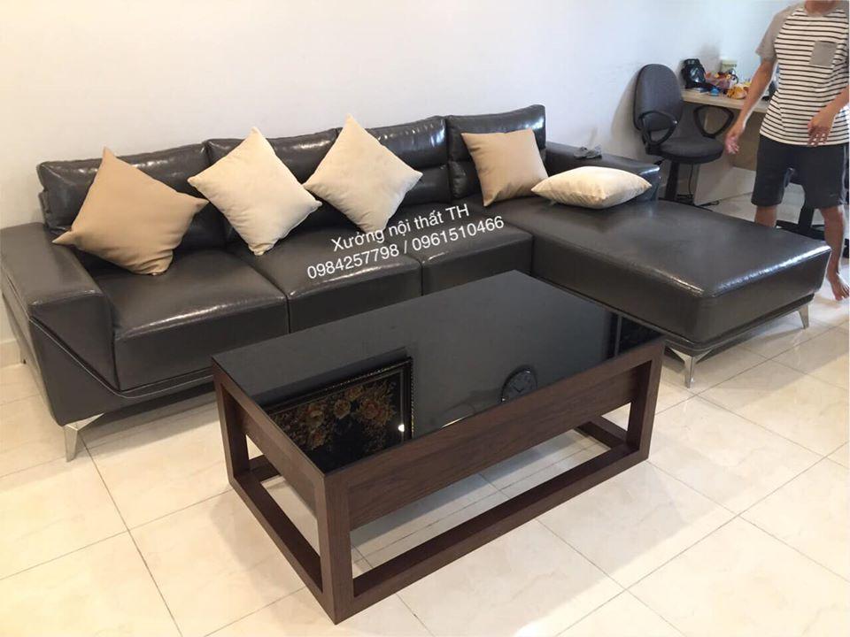 Bộ sofa hiện đại chữ L sang trọng, tinh tế cho chung cư cao cấp