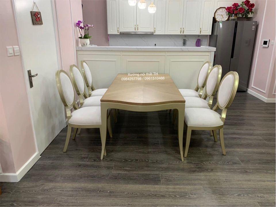 """Bộ bàn ăn 6 ghế Caracole luôn là """"điểm nhấn sáng"""" cho không gian ngôi nhà"""