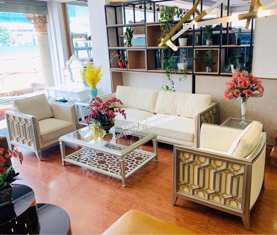 Bộ sofa phòng khách phong cách CaraCole tinh tế với những họa tiết sắc nét