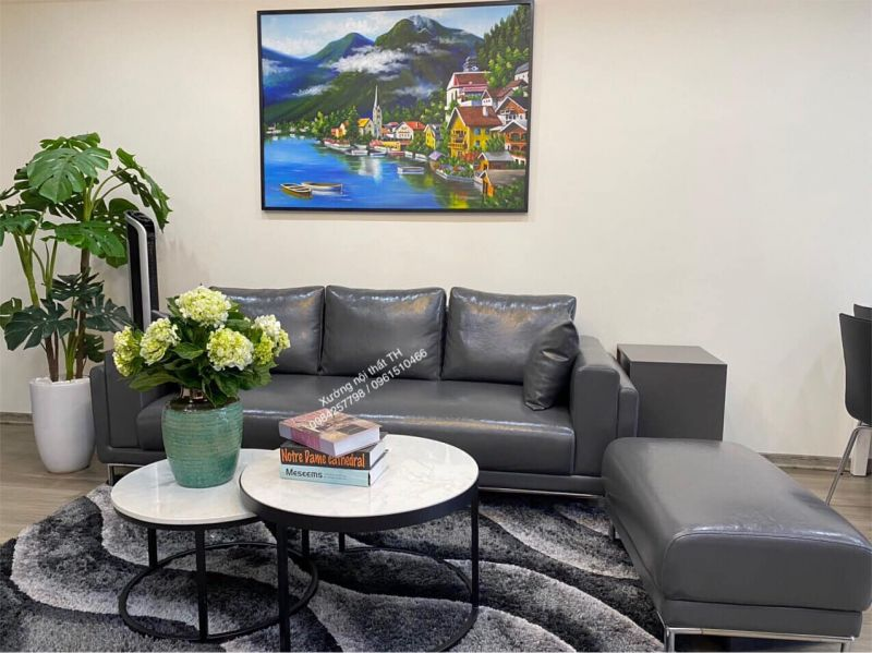 Bộ sofa hiện đại nhỏ gọn và tinh tế rất phù hợp cho không gian có diện tích vừa và nhỏ