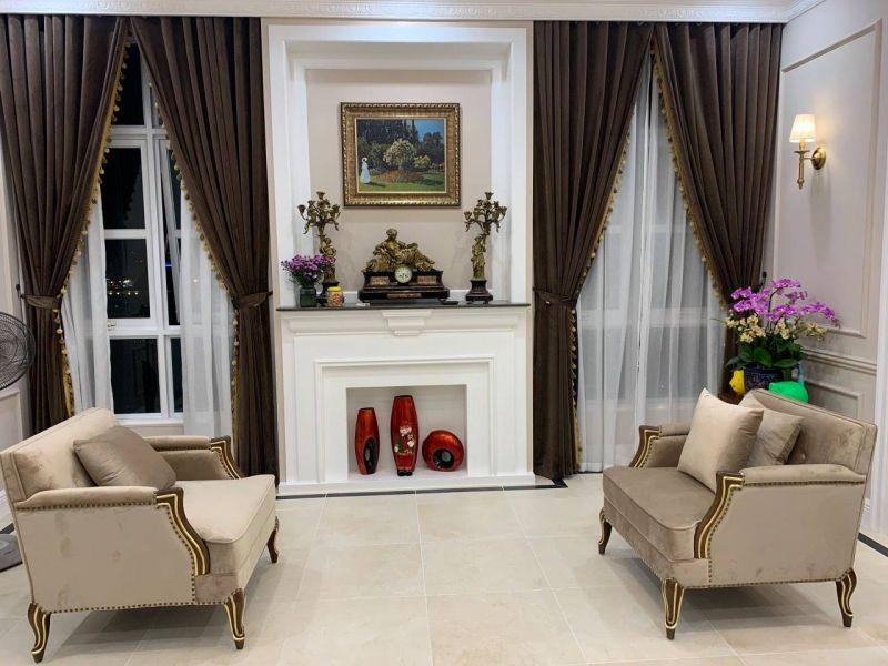 Bộ ghế sofa đơn Caracole phong cách nội thất tân cổ điển đơn giản, đường nét khỏe khoắn và có điểm nhấn khác biệt