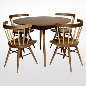 Mẫu bàn ăn tròn đẹp, hiện đại dành cho gia đình 4 người