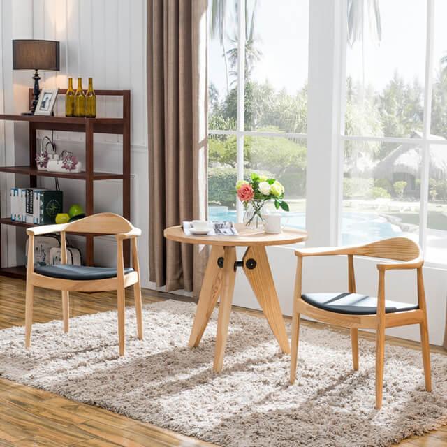 Bộ bàn ghế Kennedy - bàn ghế ăn gỗ tự nhiên