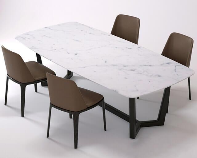 bàn concorde kết hợp ghế grace