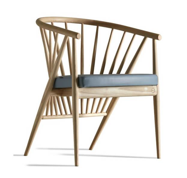 Ghế gỗ Genny tự nhiên, nệm ngồi PVC cao cấp nhập khẩu