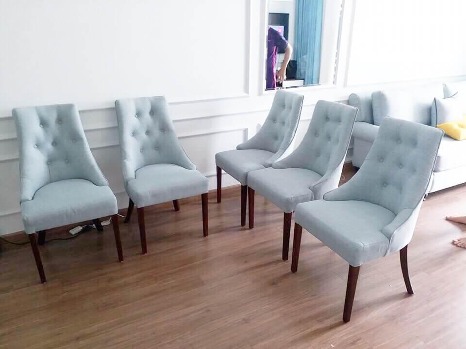 Bộ bàn ghế Charles, phong cách nội thất gia đình hiện đại