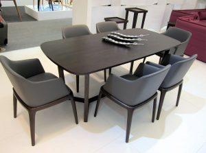 Bộ bàn ăn Concorde 6 ghế bọc da êm ái và vô cùng tinh tế