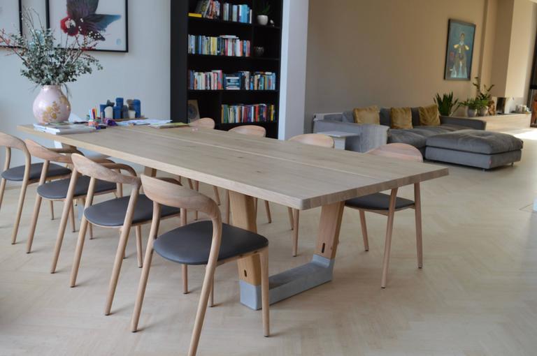 Bộ bàn ghế Neva gỗ sồi