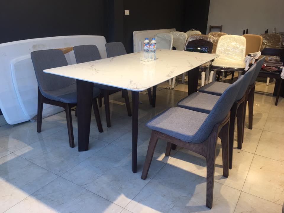 Bộ bàn ghế ăn cao cấp Howard