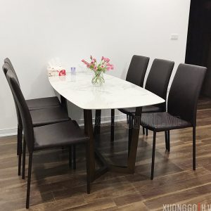 Bộ bàn ăn 6 ghế Linda sở hữu vẻ đẹp sang trọng
