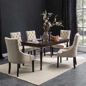 Bàn ghế ăn chân gỗ hay chân inox tốt hơn trong không gian nội thất phòng bếp ?