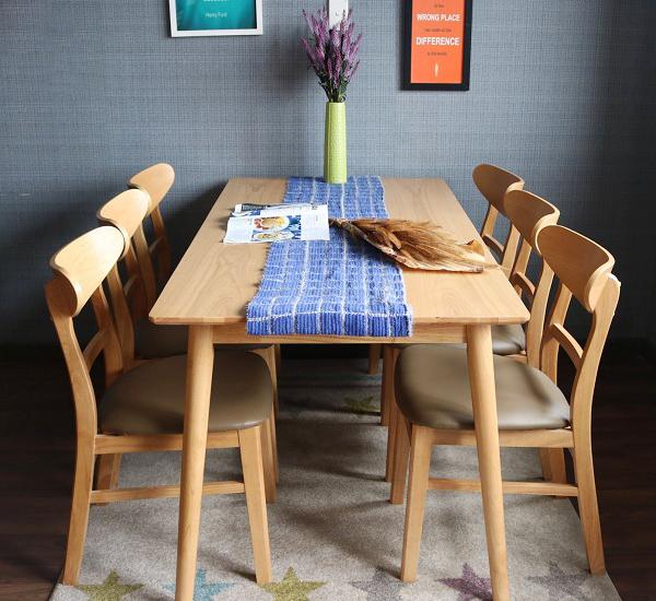 Bàn ăn Mango 6 ghế bắt mắt với kiểu dáng hiện đại, tinh tế