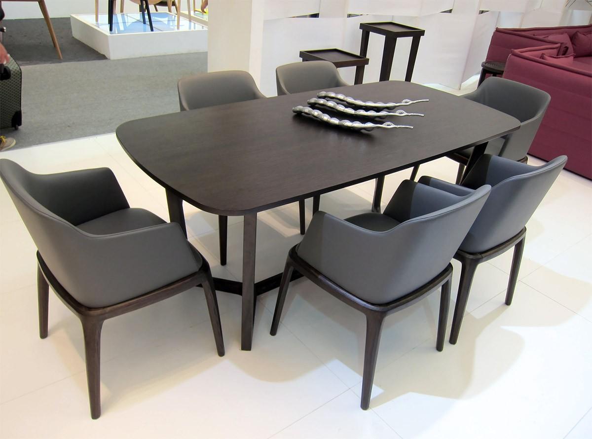 Bộ bàn ăn Concorde + ghế ăn Grace có tay vịn