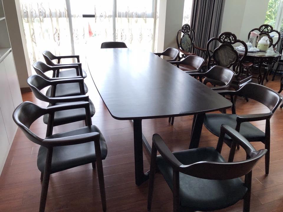 Bộ bàn ghế ăn Hiroshima gỗ sồi
