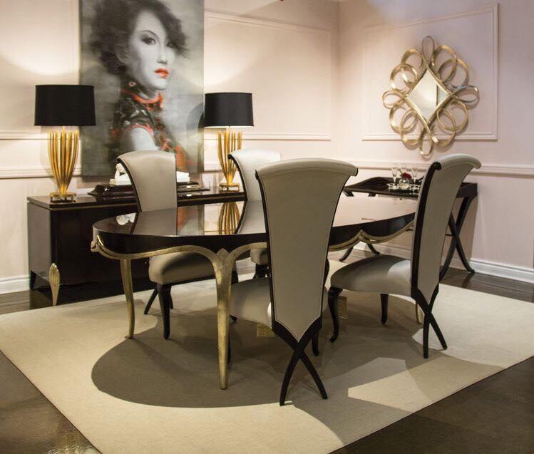Bộ bàn ghế ăn phong cách tân cổ điển sang trọng và tinh tế