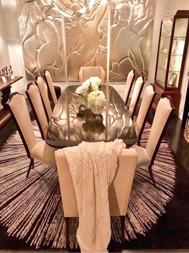 Bộ bàn ghế ăn tân cổ điển sang trọng