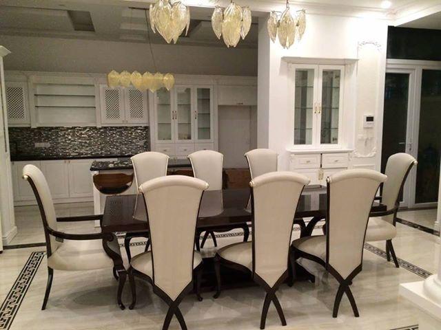 Bộ bàn ghế ăn tân cổ điển
