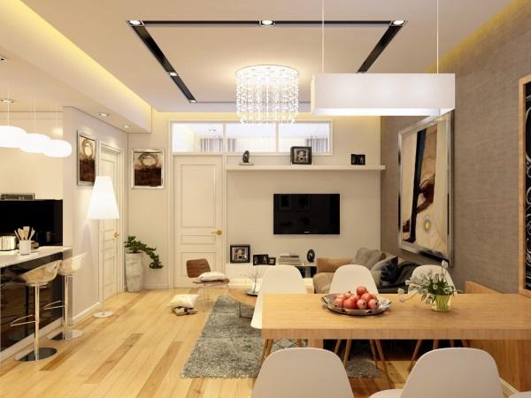 Mẫu thiết kế nội thất chung cư mini 60m2 được nhiều người yêu thích