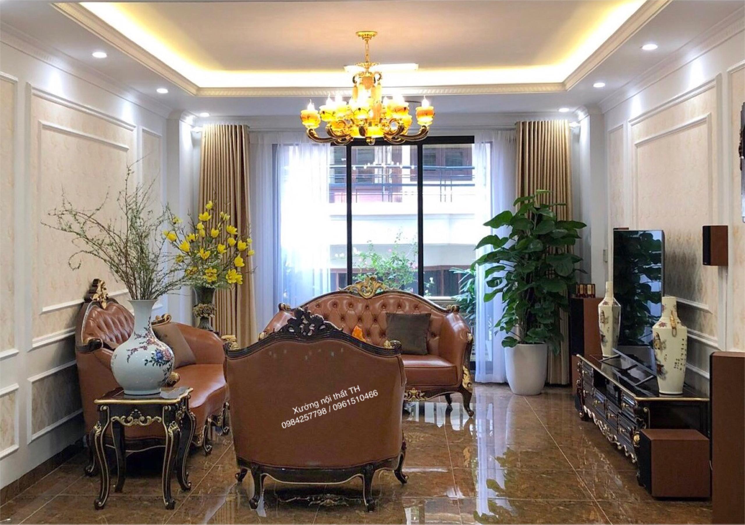 Sản Xuất Và Lắp Đặt Nội Thất Gỗ Gõ Đỏ Biệt Thự Nhà Anh Mạnh tại Nguyễn Khang